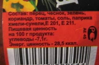 Пищевые добавки E201