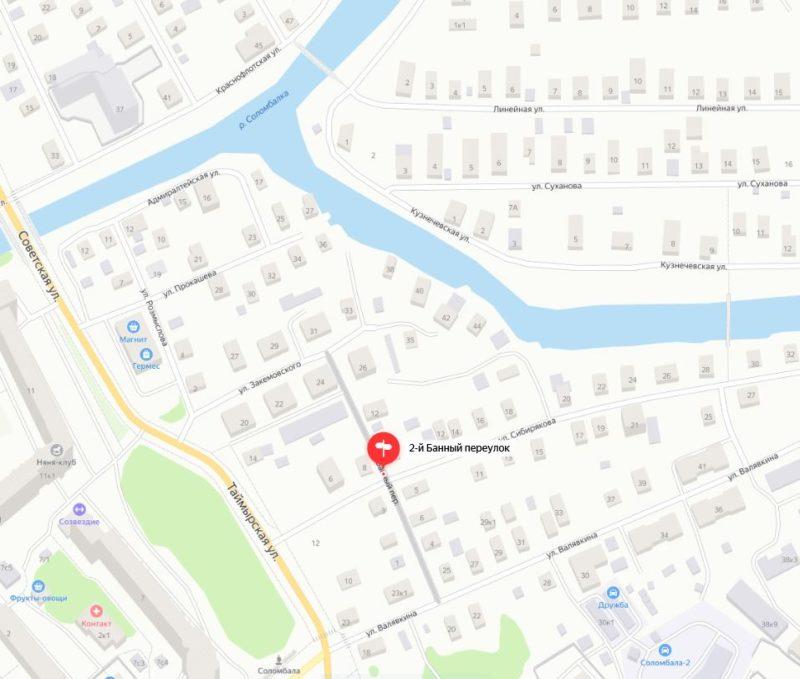 Карта Валявкина к молельному дому